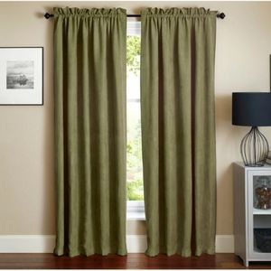 Blazing Needles Microsuede Blackout Curtain Panels